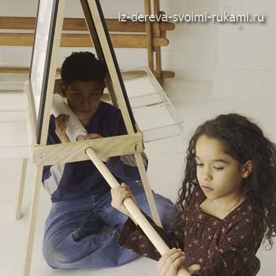 как сделать детский двухсторонний мольберт для рисования своими руками