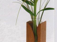 Как сделать деревянную вазу для цветов своими руками