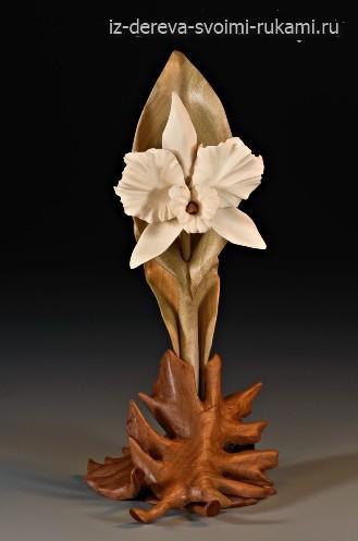 красивая скульптурная резьба по дереву Дениз Нильсен и Джорджа Уортингтона
