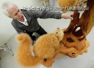 Фигурки животных из опилок дерева Сергея Бобкова