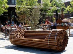 необычные скамейки для сада, фото