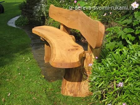 красивые деревянные скамейки для дачи
