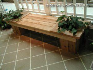 красивые скамейки из дерева для сада