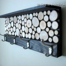 Интерьер в деревянном стиле. Декор спилами дерева