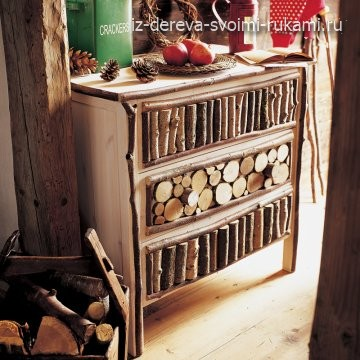 поделки из спилов дерева, интерьер в деревянном стиле