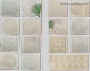 геометрическая резьба по дереву, эскизы и узоры