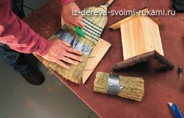 изготовление кормушки для птитц из дерева