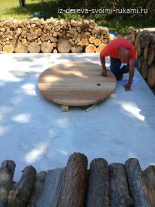 деревянная купель своими руками фото