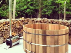 Деревянная купель для бани своими руками