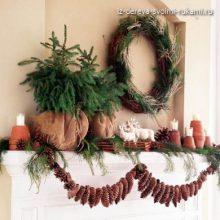 Идеи новогоднего декора своими руками или что можно сделать из шишек?