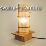 напольный светильник из бамбука своими руками
