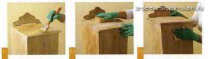 вощение древесины, техника