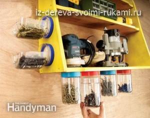 приспособления для хранения инструментов в гараже и мастерской