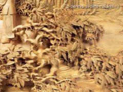 Китайская художественная резьба по дереву. Фото