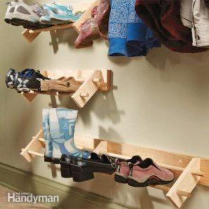 как сделать деревянную полку для обуви своими руками