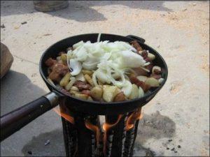 """костер из полена """"финская свеча"""""""