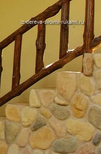 перила для лестниц из веток дерева своими руками