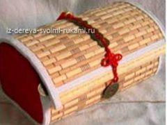 Делаем шкатулку для украшений из бамбука своими руками