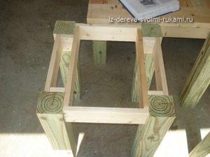 прикроватный столик из дерева своими руками