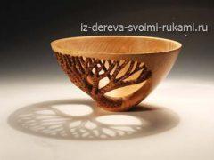 Как сделать красивую вазу из дерева своими руками