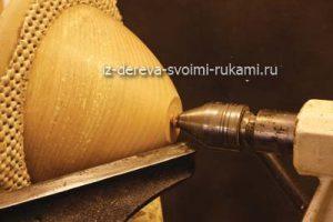 декоративная ваза из дерева своими руками