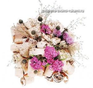 флористические композиции с берестой своими руками