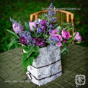 ваза из бересты своими руками