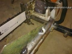 Самодельная пилорама из бензопилы. Приспособление для продольной распиловки. Видео