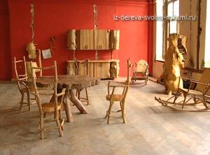 необычная мебель из дерева и коряг фото
