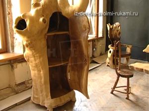 необычная мебель из дерева и коряг мастера К.Кузнецова