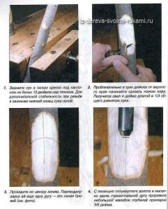 объемная резьба по дереву, уроки