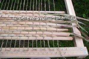 плетение циновки из рогоза. Мастер-класс