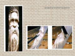 Скульптурная резьба по дереву. Изготовление посоха-оберега. Эскизы