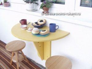 как сделать откидной столик на балкон своими руками
