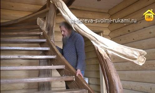 Перила деревянных лестниц своими руками