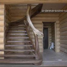 Монтаж деревянной чердачной лестницы в рустикальном стиле своими руками. Видео