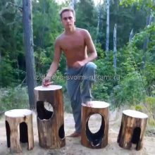 Огненная лесная мебель своими руками. Пошаговый ход работы с фотографиями