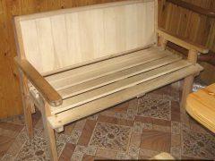 Деревянная скамейка с подлокотниками своими руками