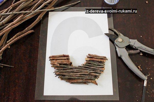 Находка для интерьера - декоративное панно из веточек