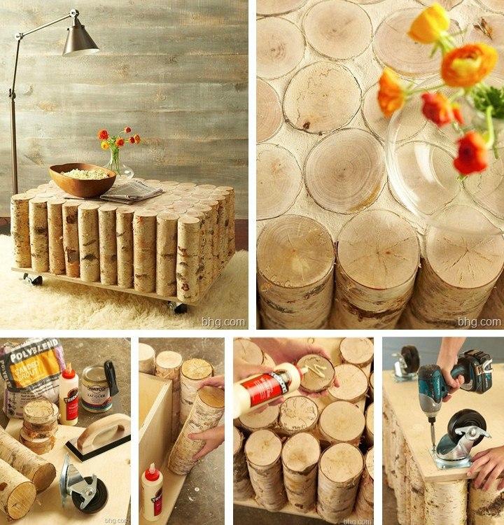3WSd0uZAA9E - Из дерева своими руками! Интересные деревянные поделки, мебель, мастер-классы по дереву - Стол из чурок, фото
