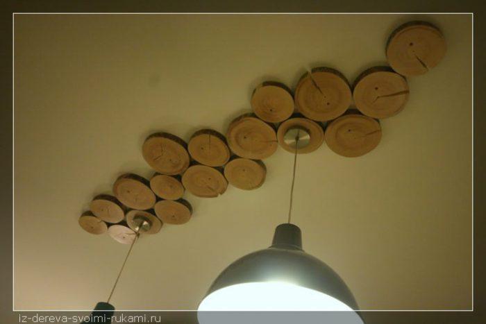 Идеи для интерьера из спилов дерева