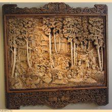 Резные деревянные картины русских мастеров