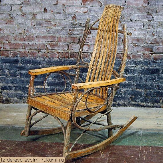 Мебель из веток - много фото и текст