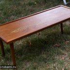 XPMOCgyaCt - Из дерева своими руками. Мастер-классы по дереву - Журнальный столик-оттоманка из старого стола своими руками | Идеи журнальных столиков