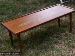 Журнальный столик-оттоманка из старого стола своими руками | Идеи журнальных столиков