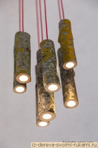 lamparas colgantes hechas de ramas de rboles 2