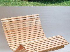 Кресло-качалка из дерева с чертежом