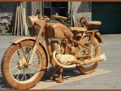 Мотоцикл ИЖ-49 из дерева, 40 фотографий и видео