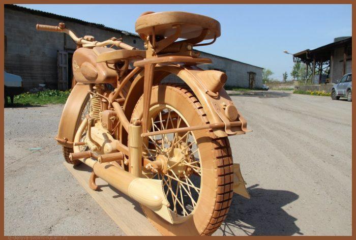 49 00005 700x472 - Из дерева своими руками! Интересные деревянные поделки, мебель, мастер-классы по дереву - Мотоцикл ИЖ-49 из дерева, 40 фотографий и видео