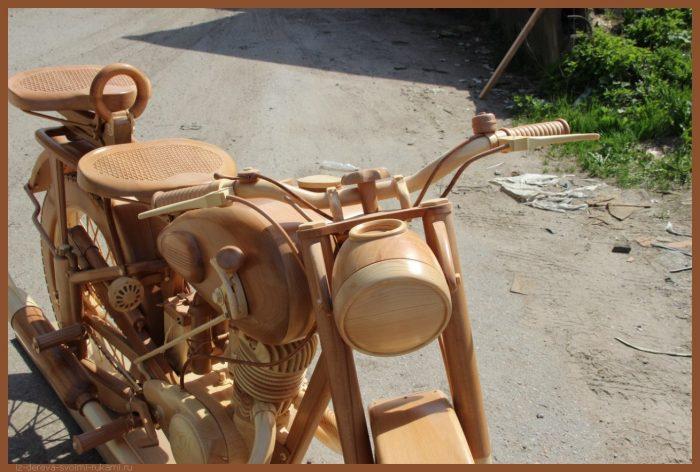 49 00014 - Из дерева своими руками! Интересные деревянные поделки, мебель, мастер-классы по дереву - Мотоцикл ИЖ-49 из дерева, 40 фотографий и видео